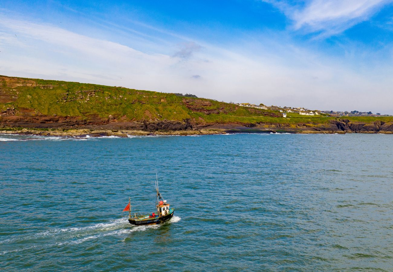 Fishing boat off Dunmore East, County Waterford