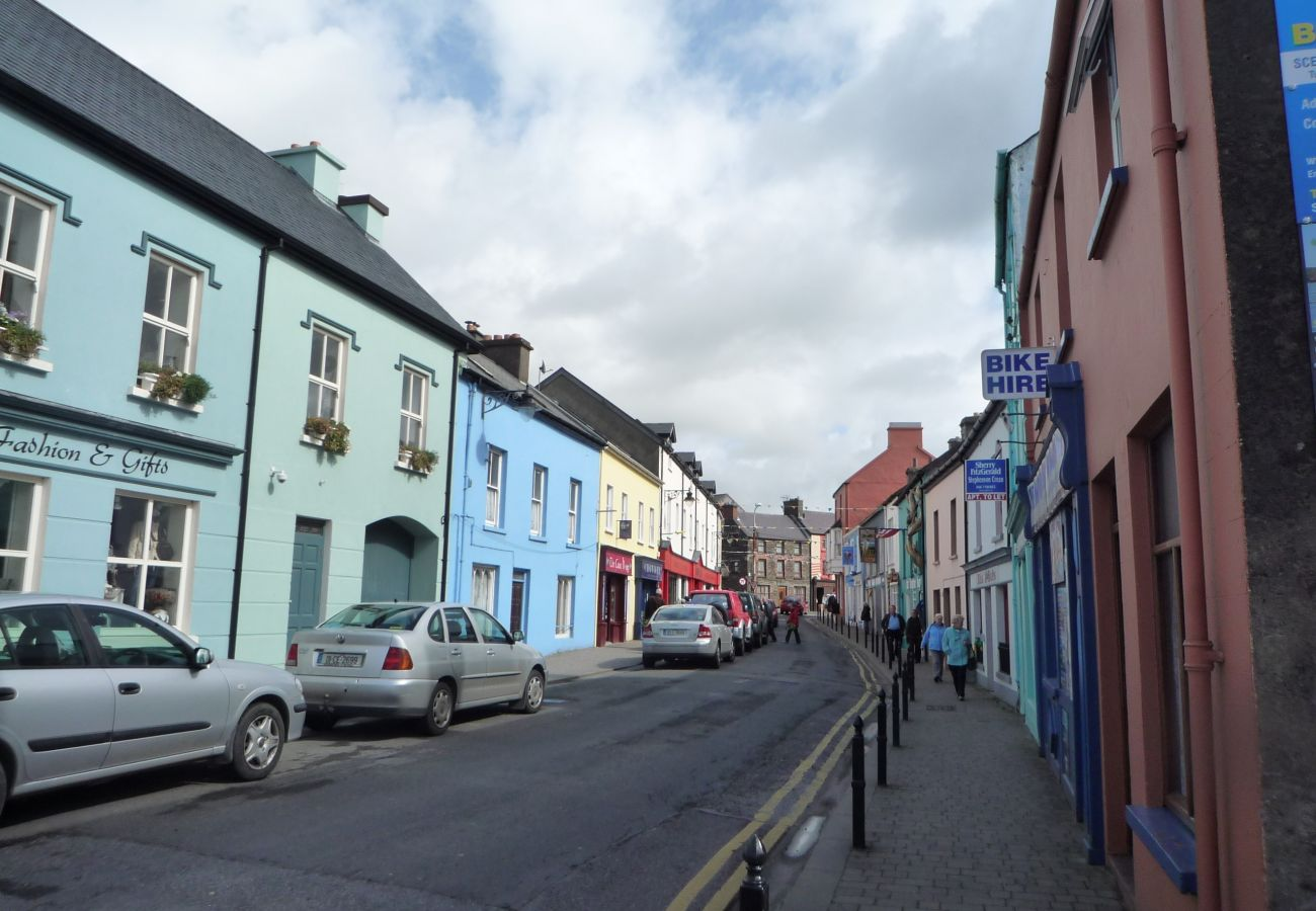 Colourful streets of Dingle town, County Kerry
