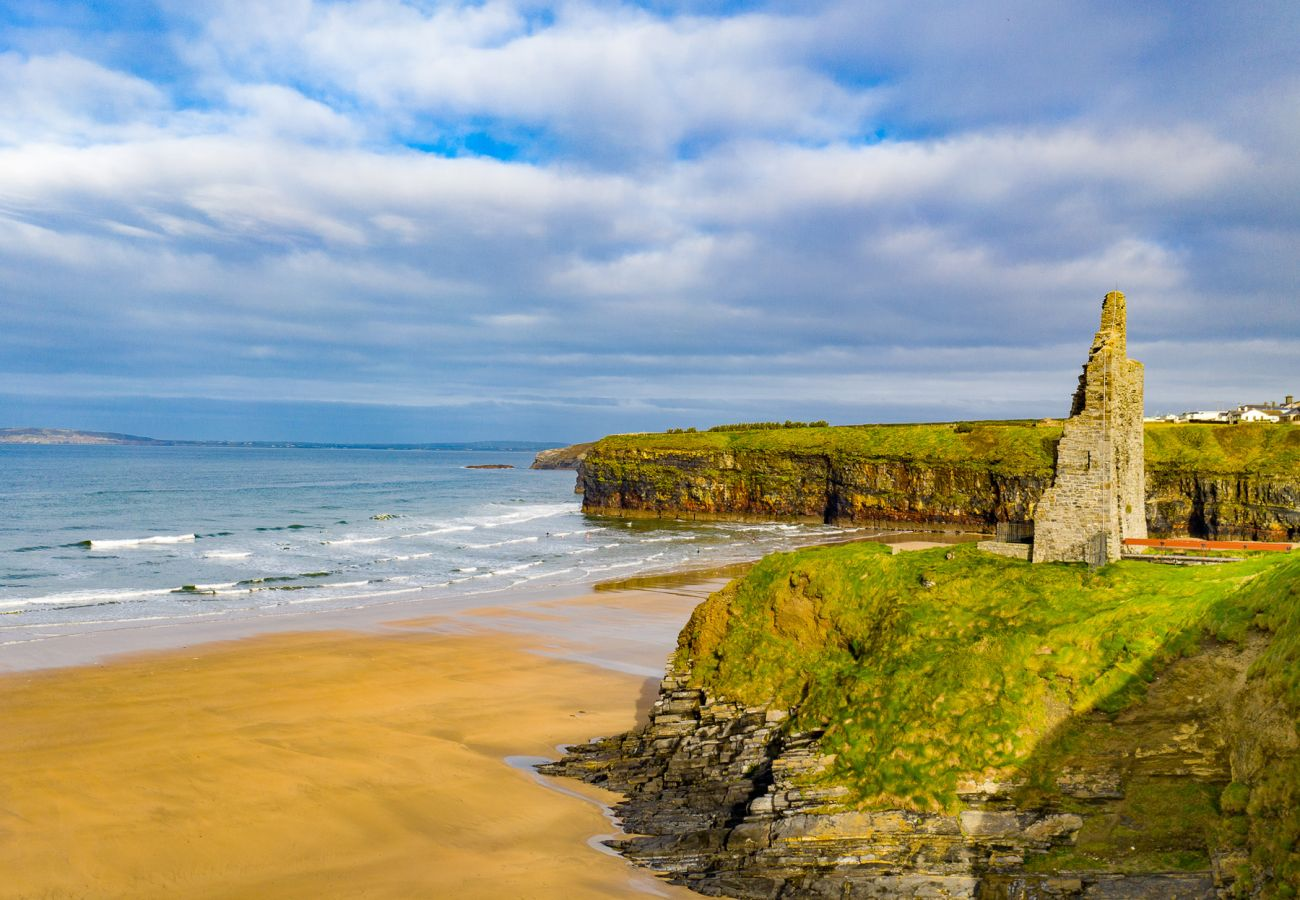 Ballybunion Castle Ruins at Ballybunion Beach, County Kerry, Ireland