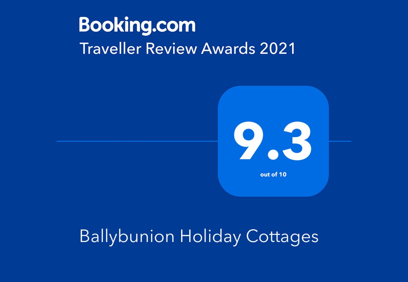 Booking.com Travel Award 2021 | Ballybunion Holiday Cottages Travel Award | Trident Holiday Homes