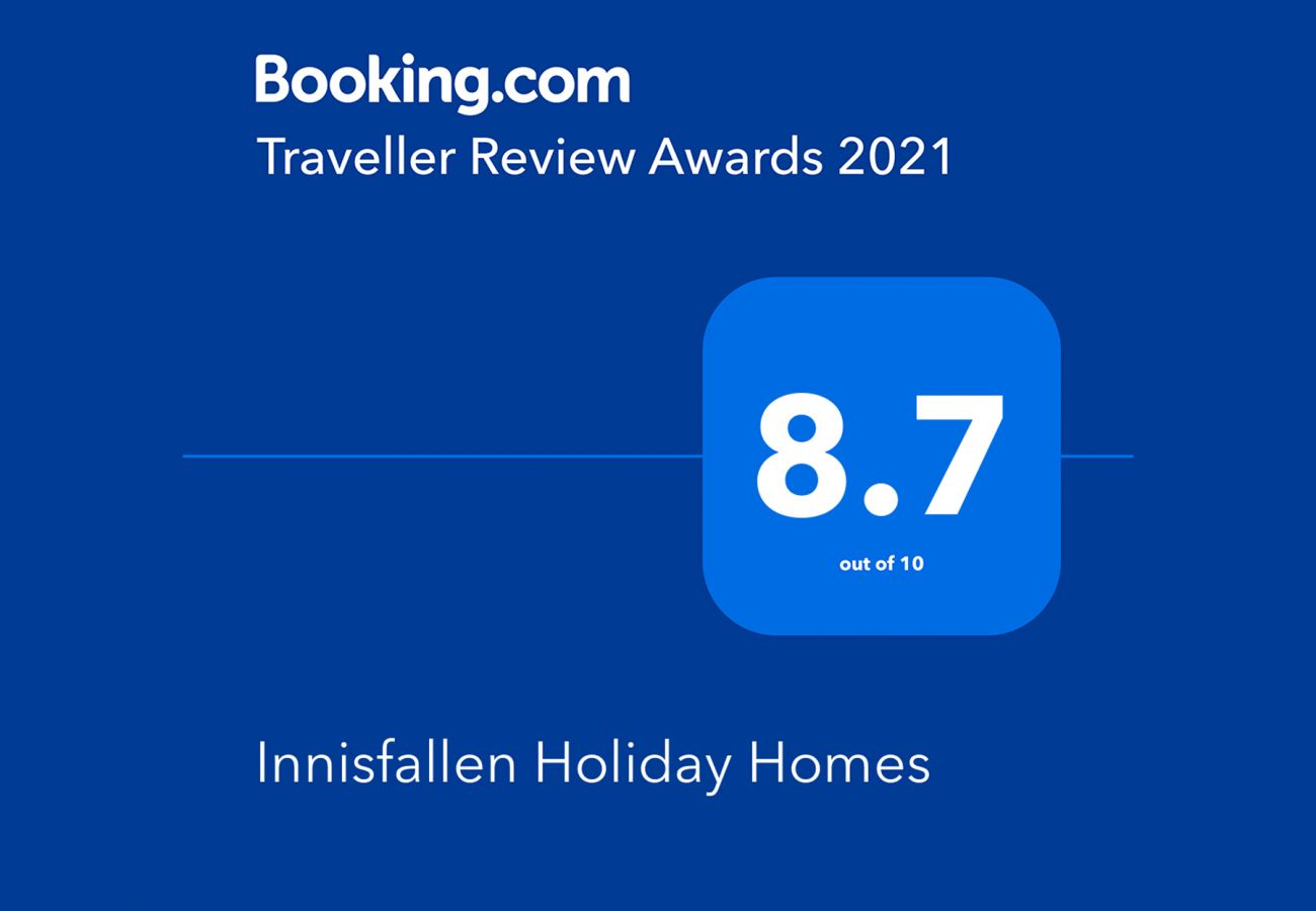 Booking.com Travel Award 2021 | Innisfallen Holiday Homes Travel Award | Trident Holiday Homes