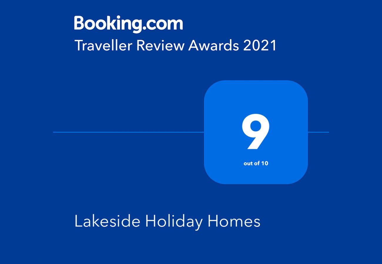Booking.com Travel Award 2021 |  Lakeside Holiday Homes Travel Award | Trident Holiday Homes