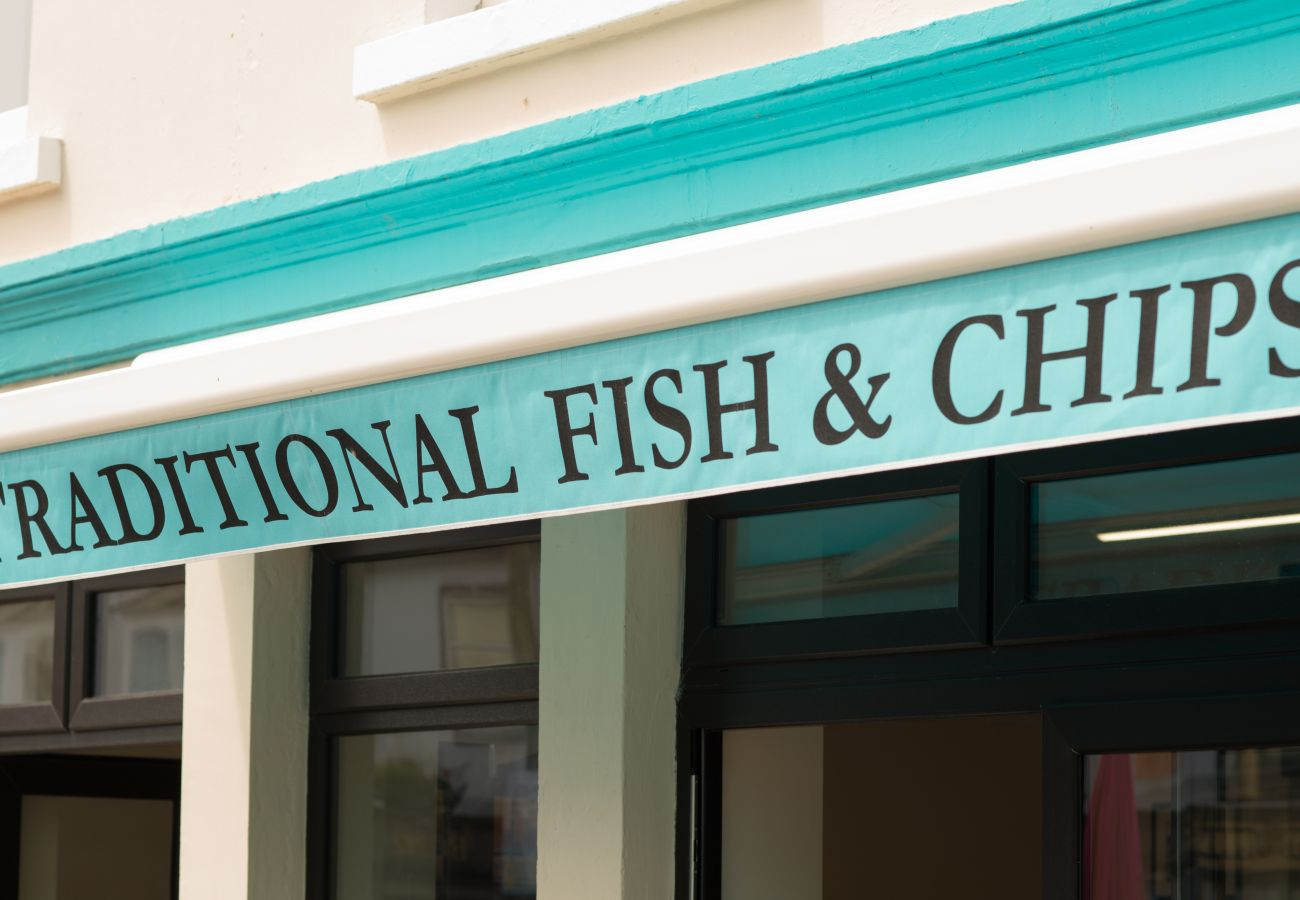 Fish and chip shop in Kilkee County Clare, Ireland