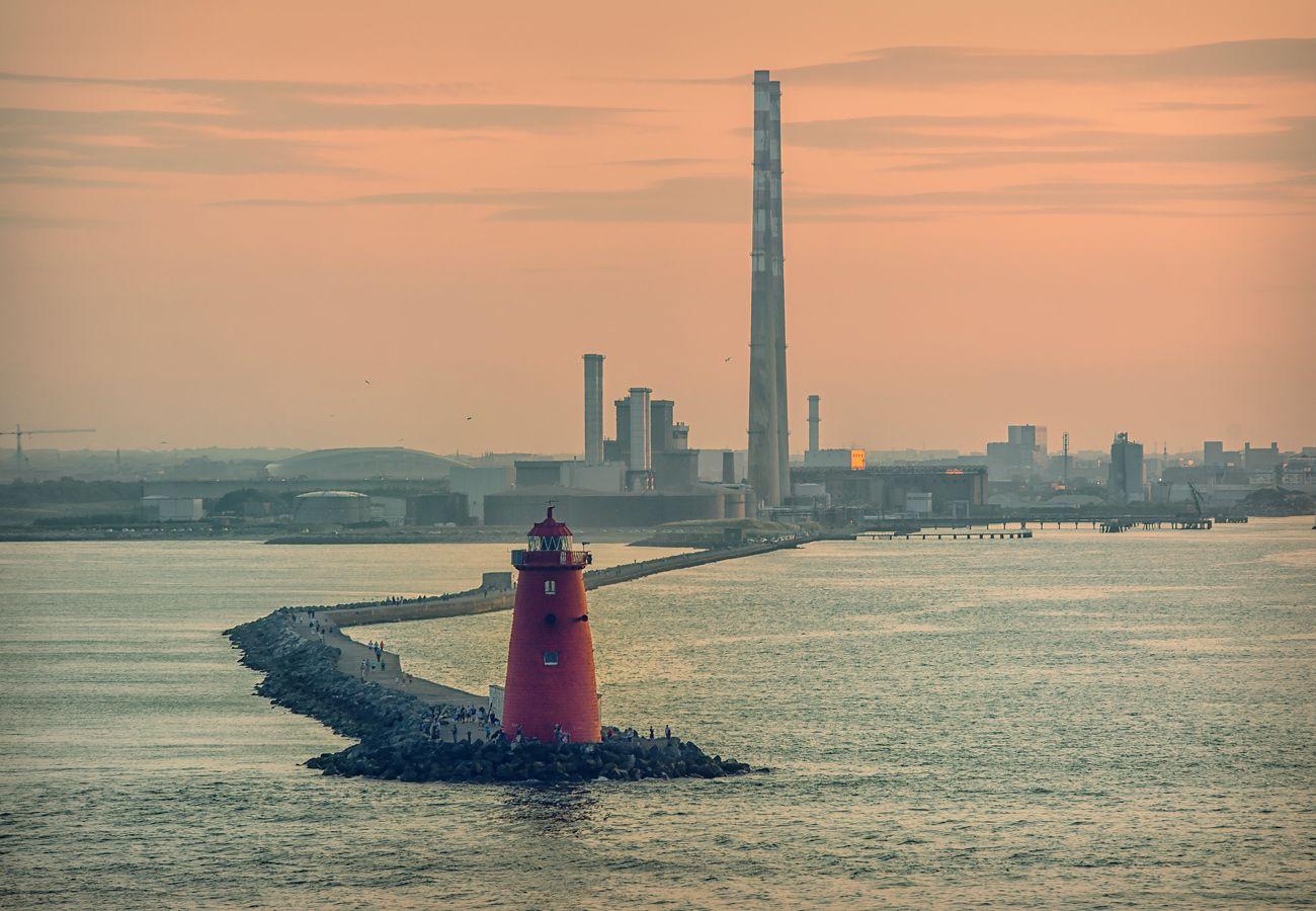 Poolbeg Lighthouse & Towers Ringsend Dublin  Ireland