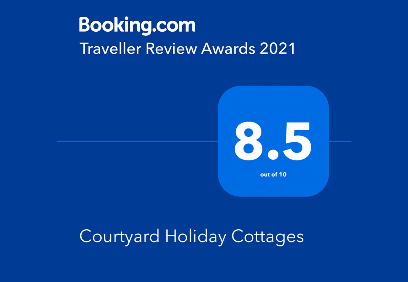 Booking.com Travel Award 2021 | Courtyard Holiday Cottages Travel Award | Trident Holiday Homes