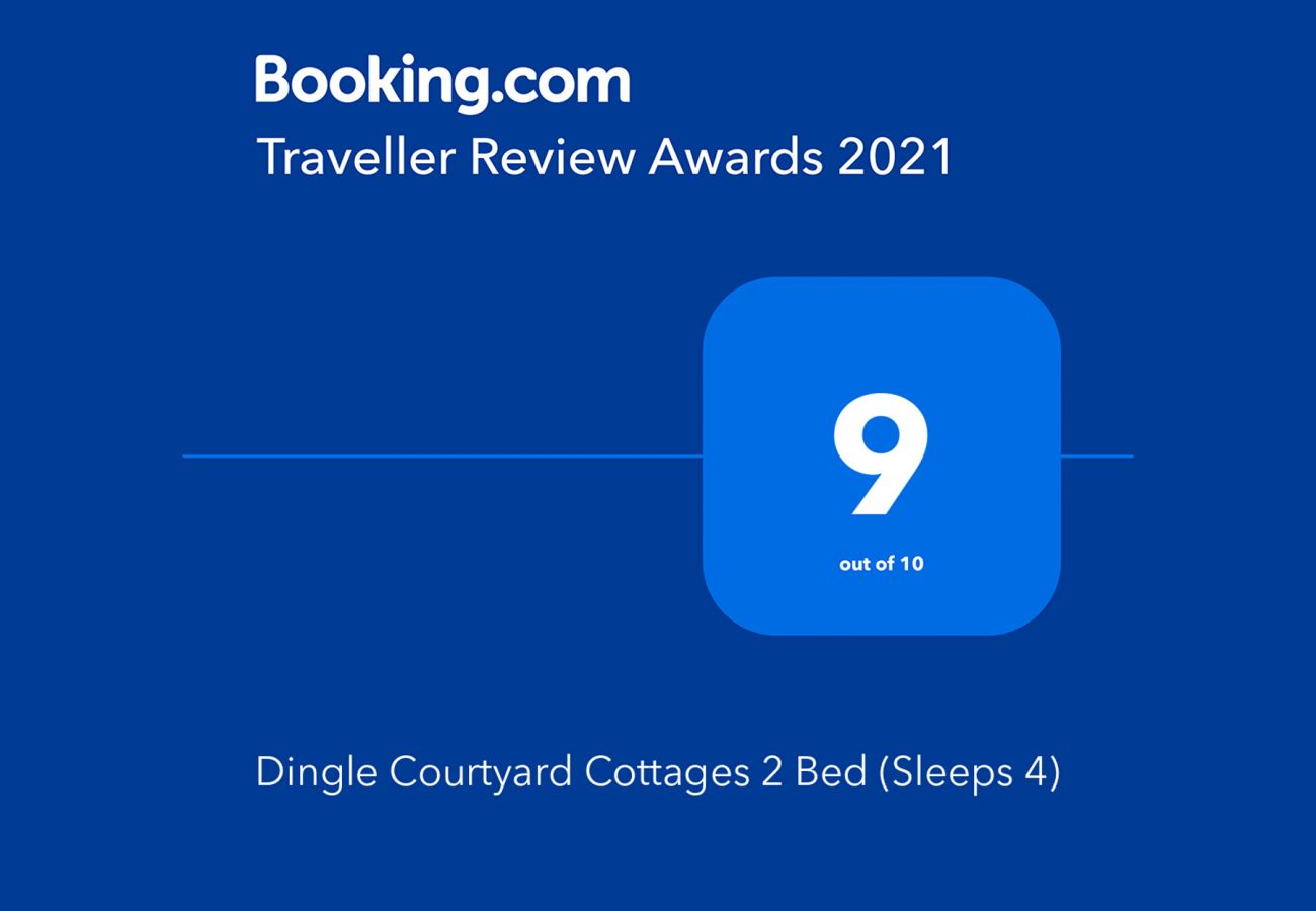 Booking.com Travel Award 2021 | Dingle Courtyard Cottages, 2 bed - Sleeps 4 Travel Award | Trident Holiday Homes