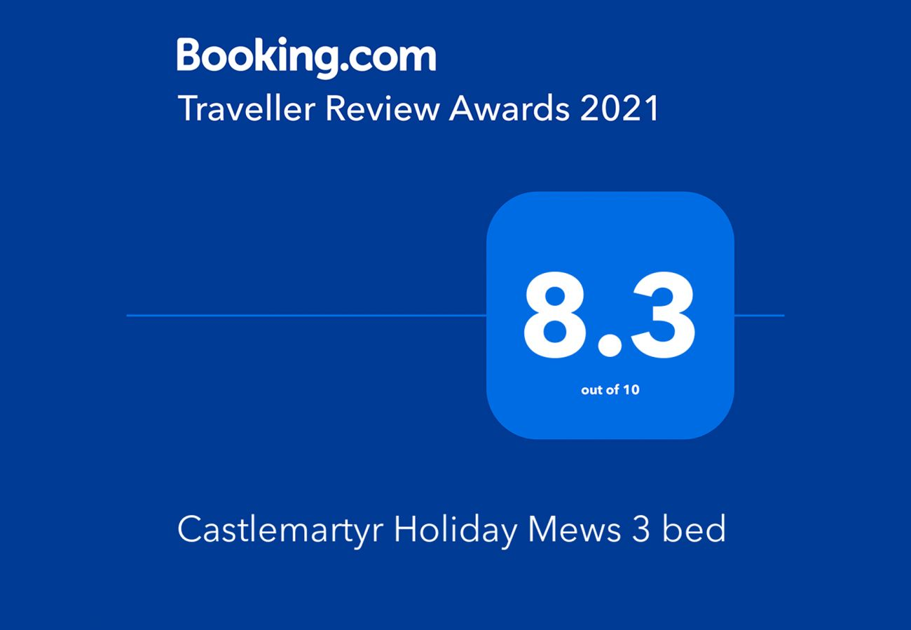 Booking.com Travel Award 2021 | Castlemartyr Holiday Mews Travel Award | Trident Holiday Homes