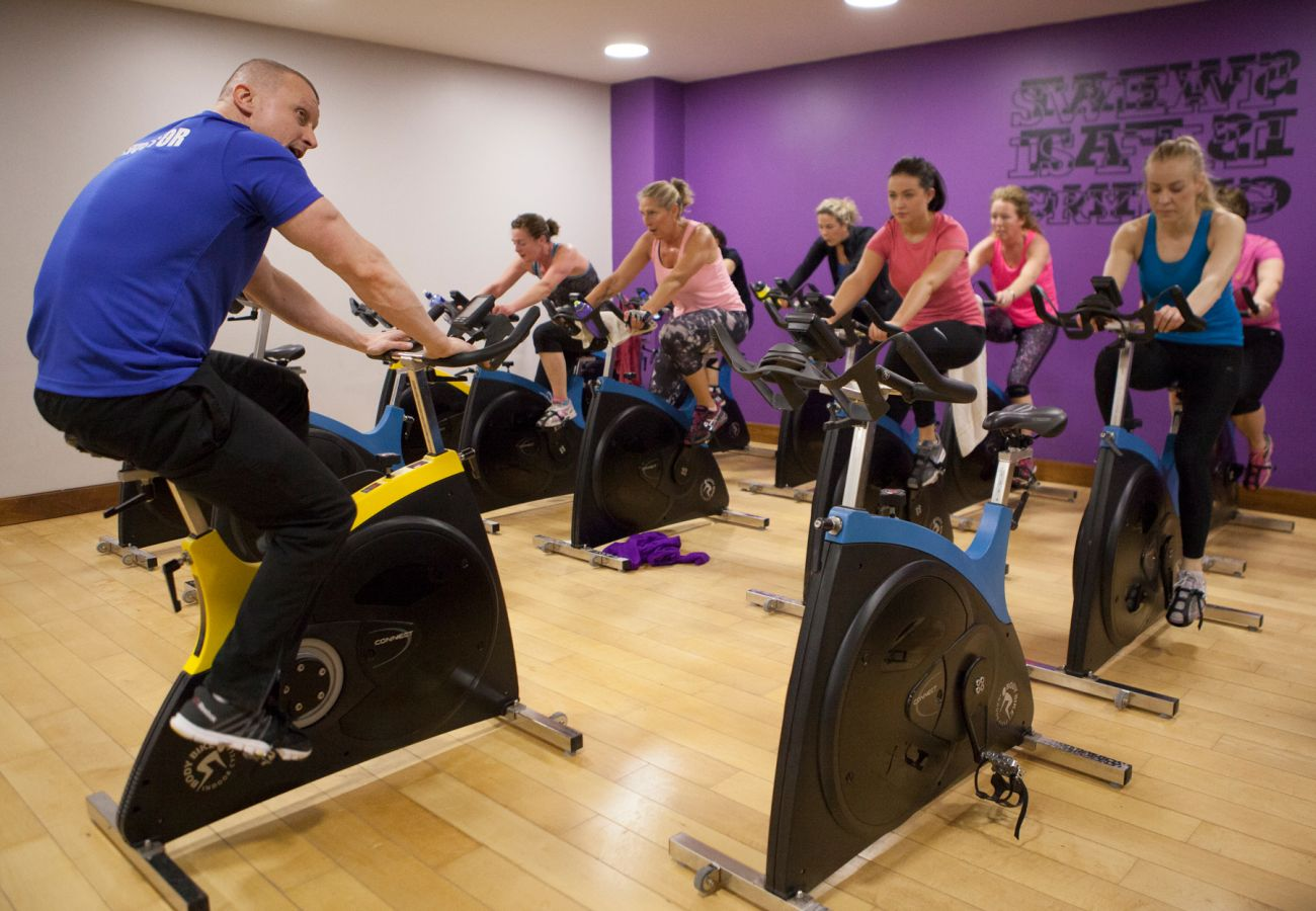 Spinning class at Knightsbrook Hotel, Trim, County Meath