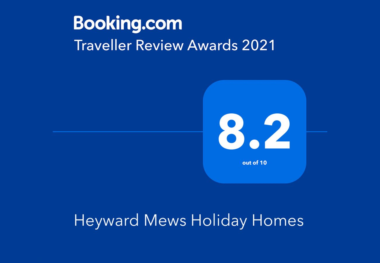 Booking.com Travel Award 2021 | Heyward Mews Holiday Homes Travel Award | Trident Holiday Homes
