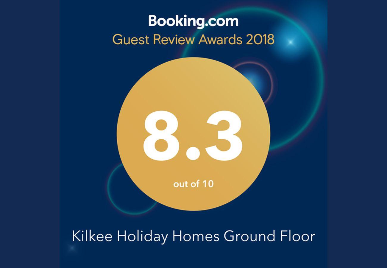 Booking.com award Kilkee Holiday Homes Clare Self Catering Ireland
