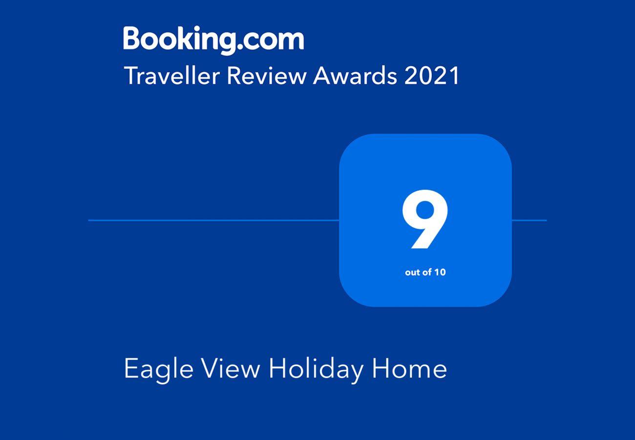 Booking.com Travel Award 2021 | Eagle View Holiday Home Travel Award | Trident Holiday Homes
