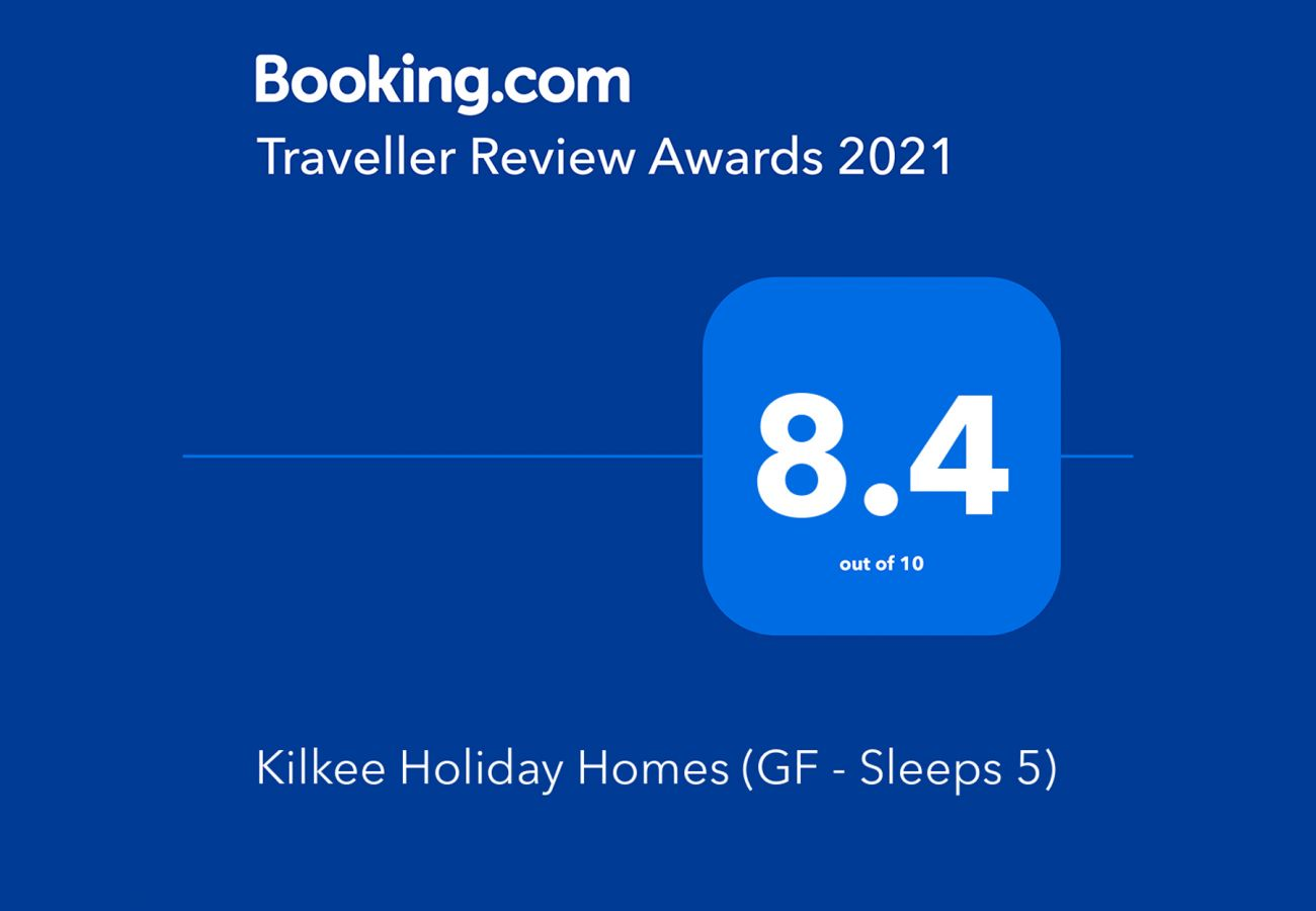 Booking.com Travel Award 2021 | Kilkee Holiday Homes, Ground Floor - Sleeps 5 Travel Award | Trident Holiday Homes