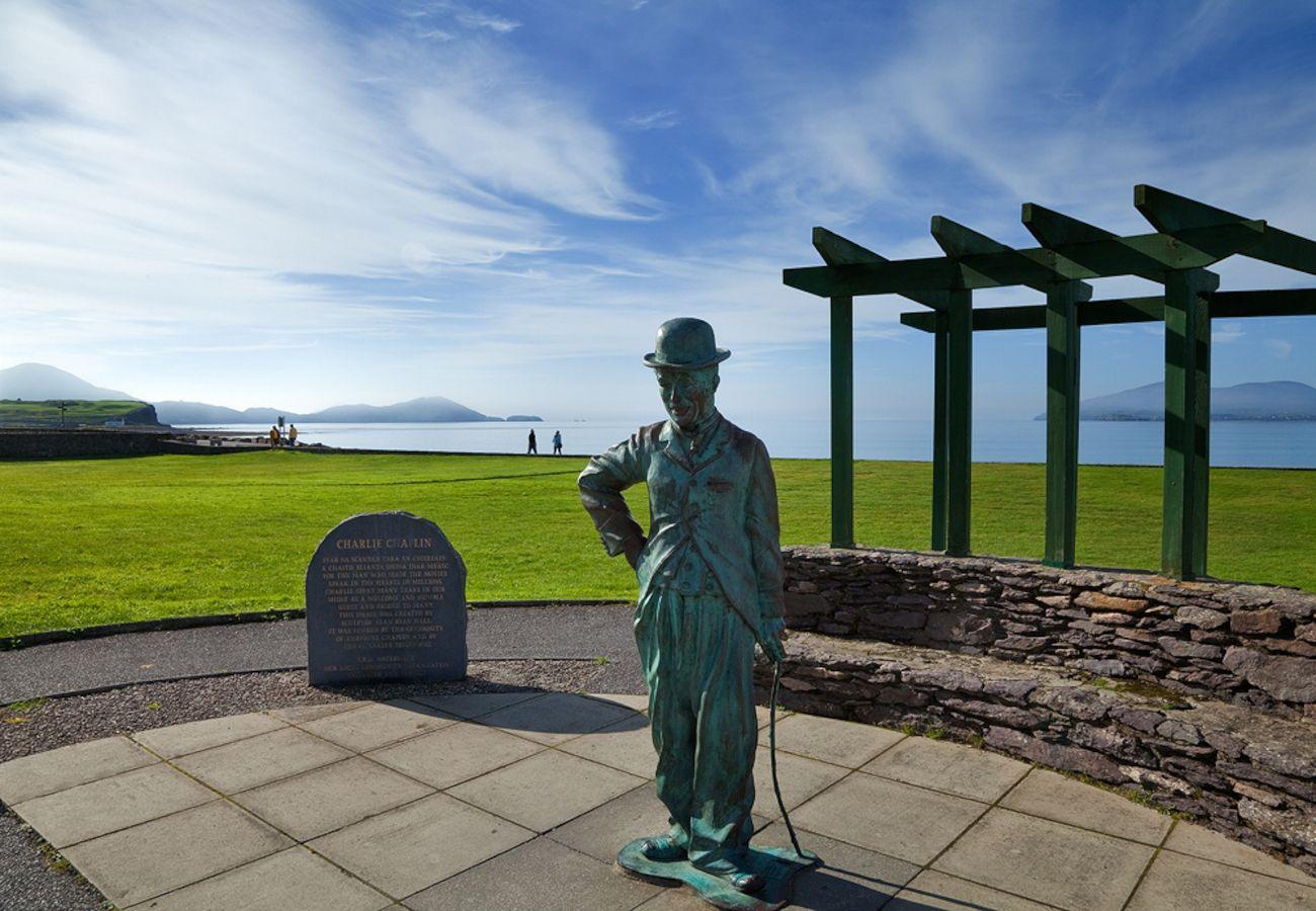 Charlie Chaplin Statue, Waterville - copyright Tourism Ireland