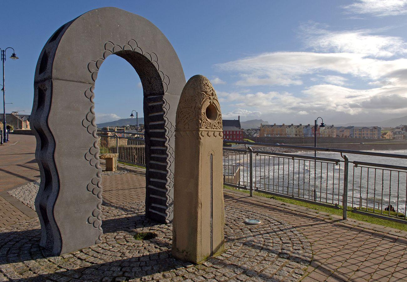 Aolchloch Punta Monument in Bundoran, County Donegal