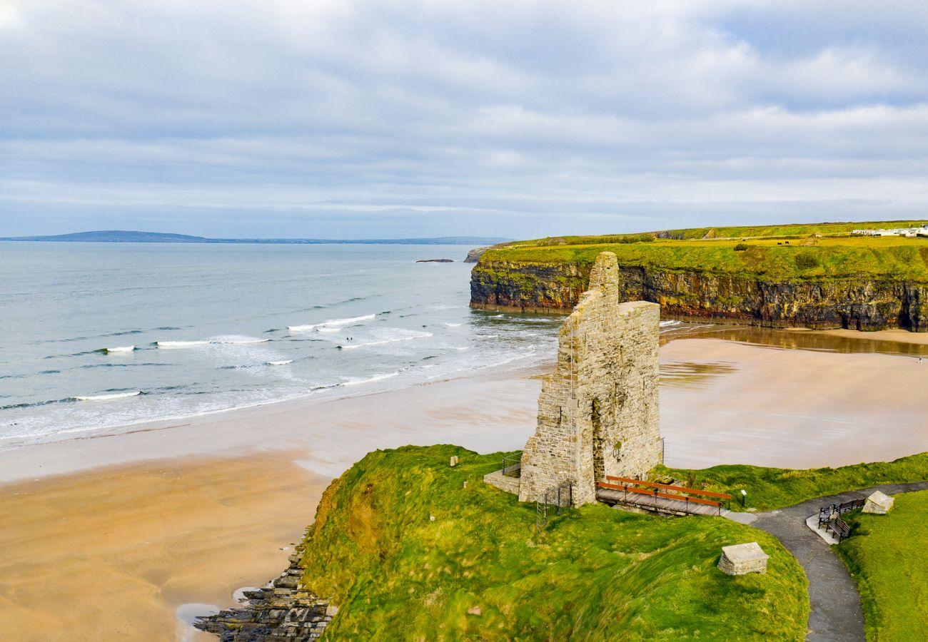 Castle Ruins at Ballybunion Beach, Ballybunion, County Kerry, Ireland
