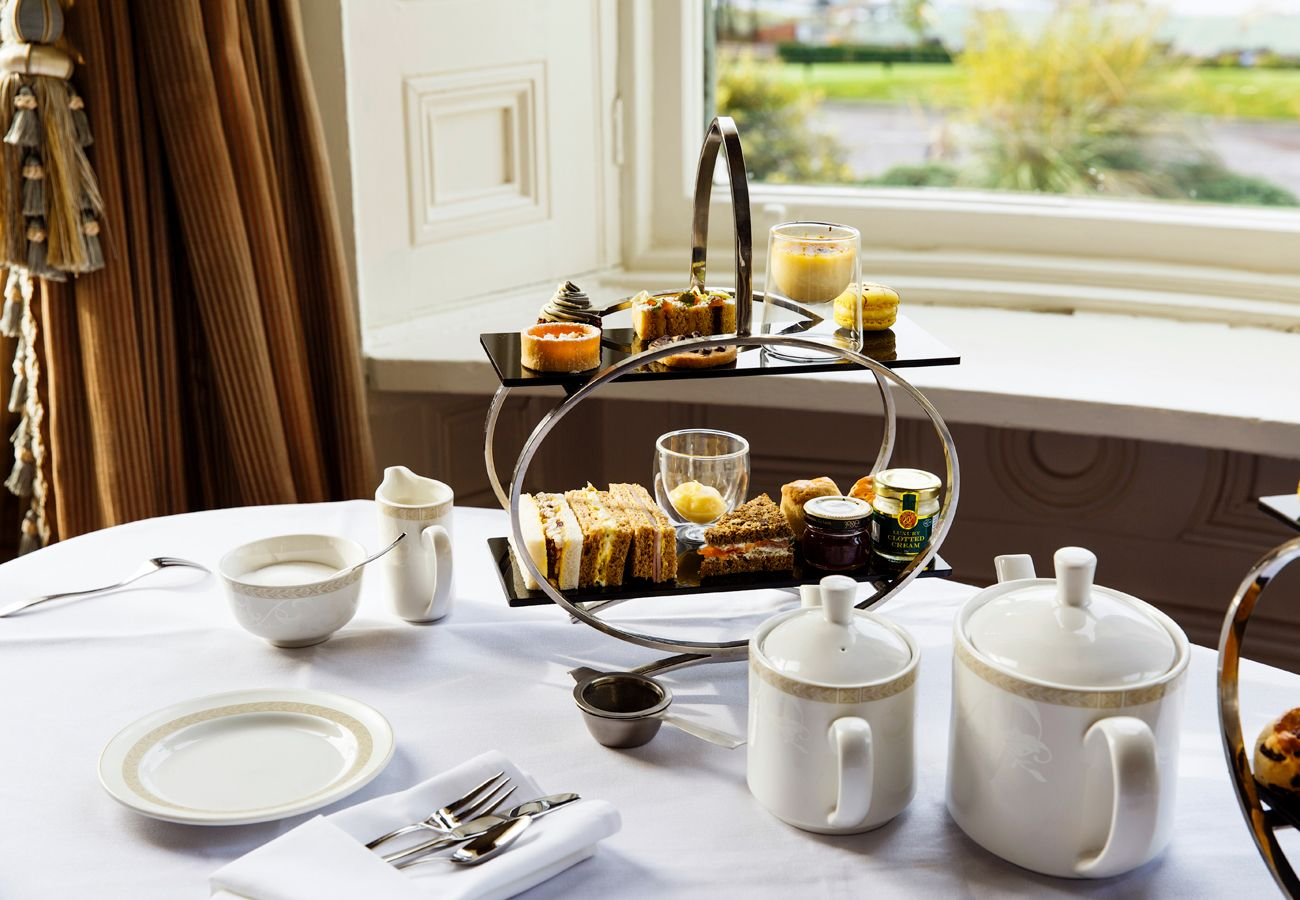 Afternoon Tea at Manor House Country Hotel Fermanagh beside Manor Holiday Cottages Fermanagh