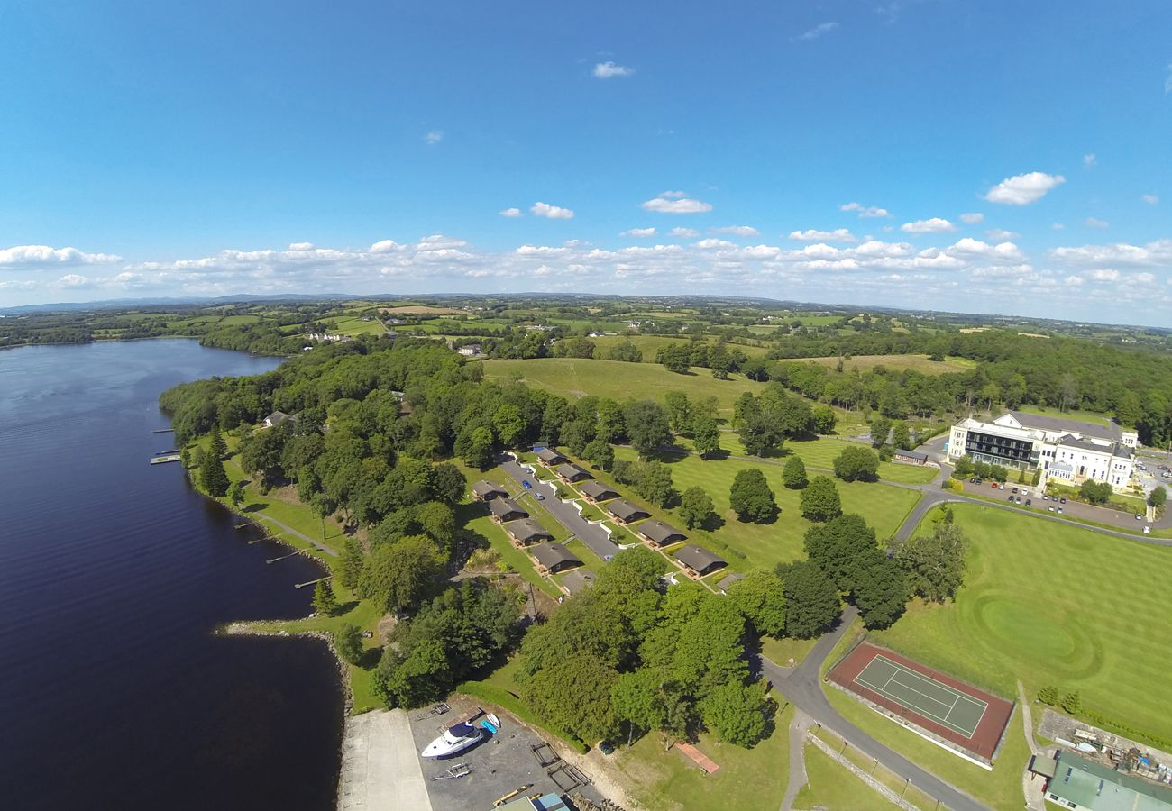 Aerial view Manor Estate Boating Holiday Fermanagh Lower Lough Northern Ireland