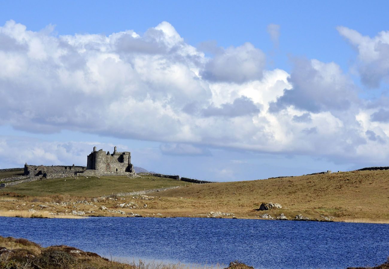 Clifden Castle, Connemara, County Galway, Ireland