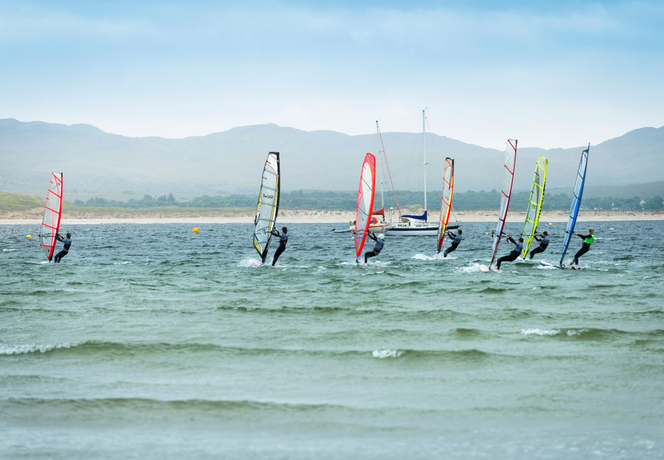 Kite Surfers at Downings County Donegal copyright Failte Ireland