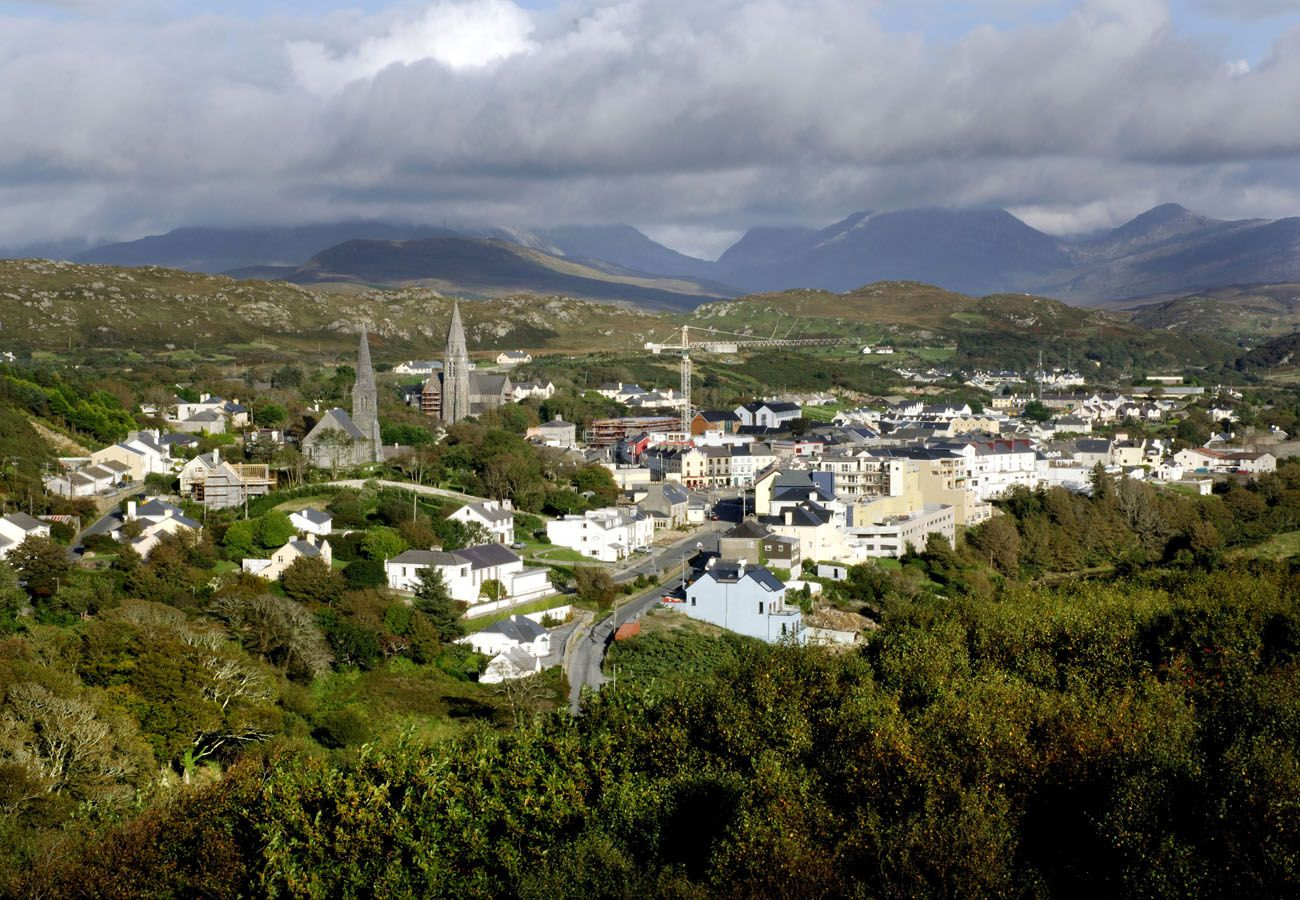 Aerial View of Clifden Town Connemara County Galway