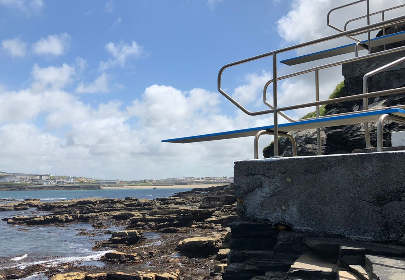 Famous diving boards located in Kilkee town County Clare