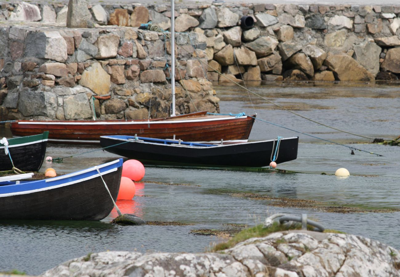 Boats moored at Spiddal on the shore of Galway Bay in County Galway
