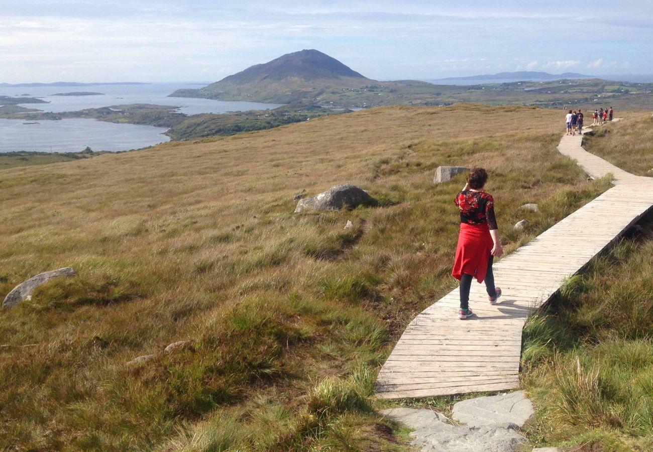 Diamond Hill Walk in Connemara, County Galway, Ireland