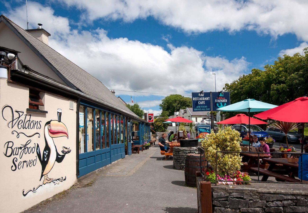 Village of Letterfrack in Connemara, County Galway, Ireland