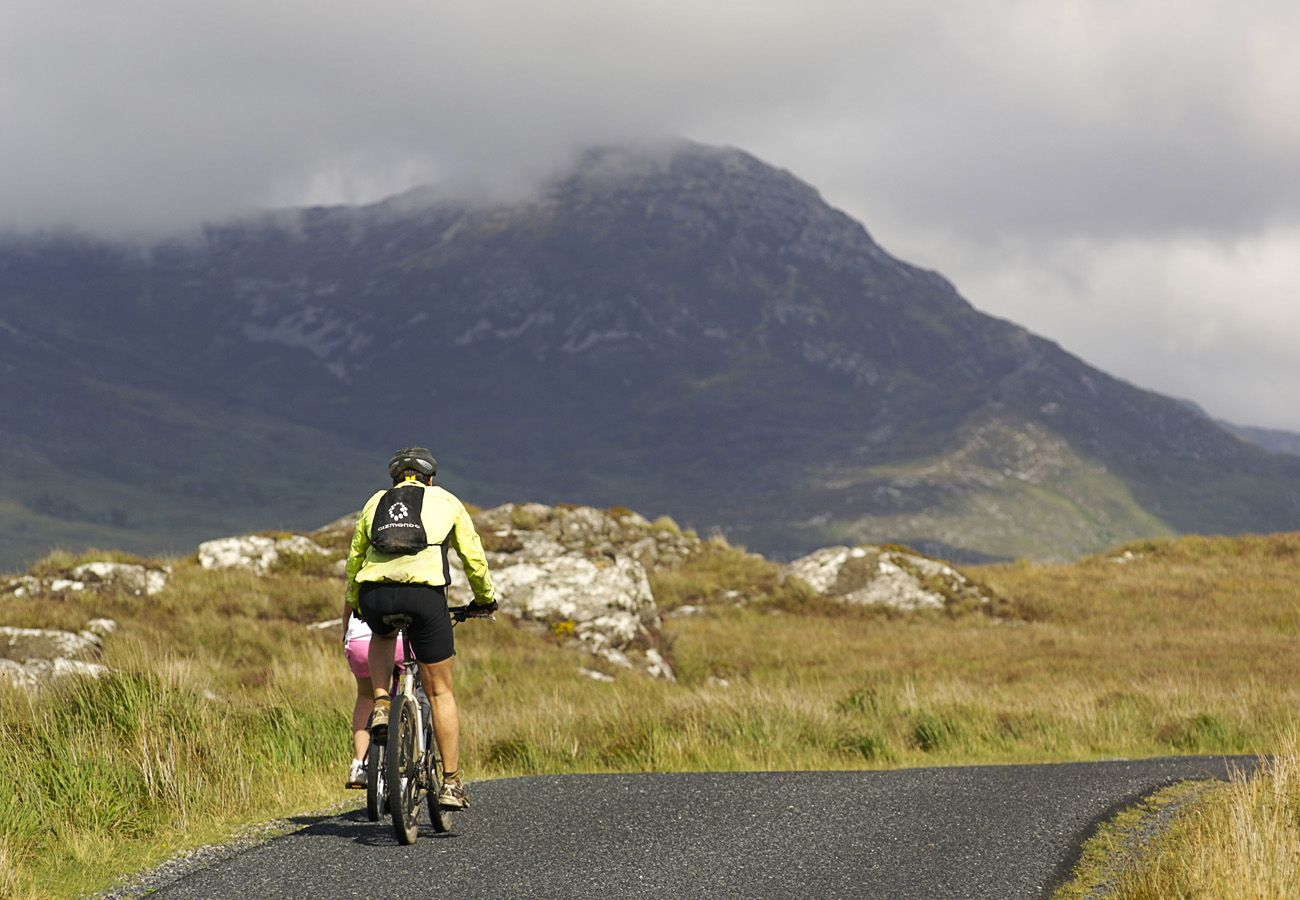 Cycling in Connemara, County Galway, Ireland