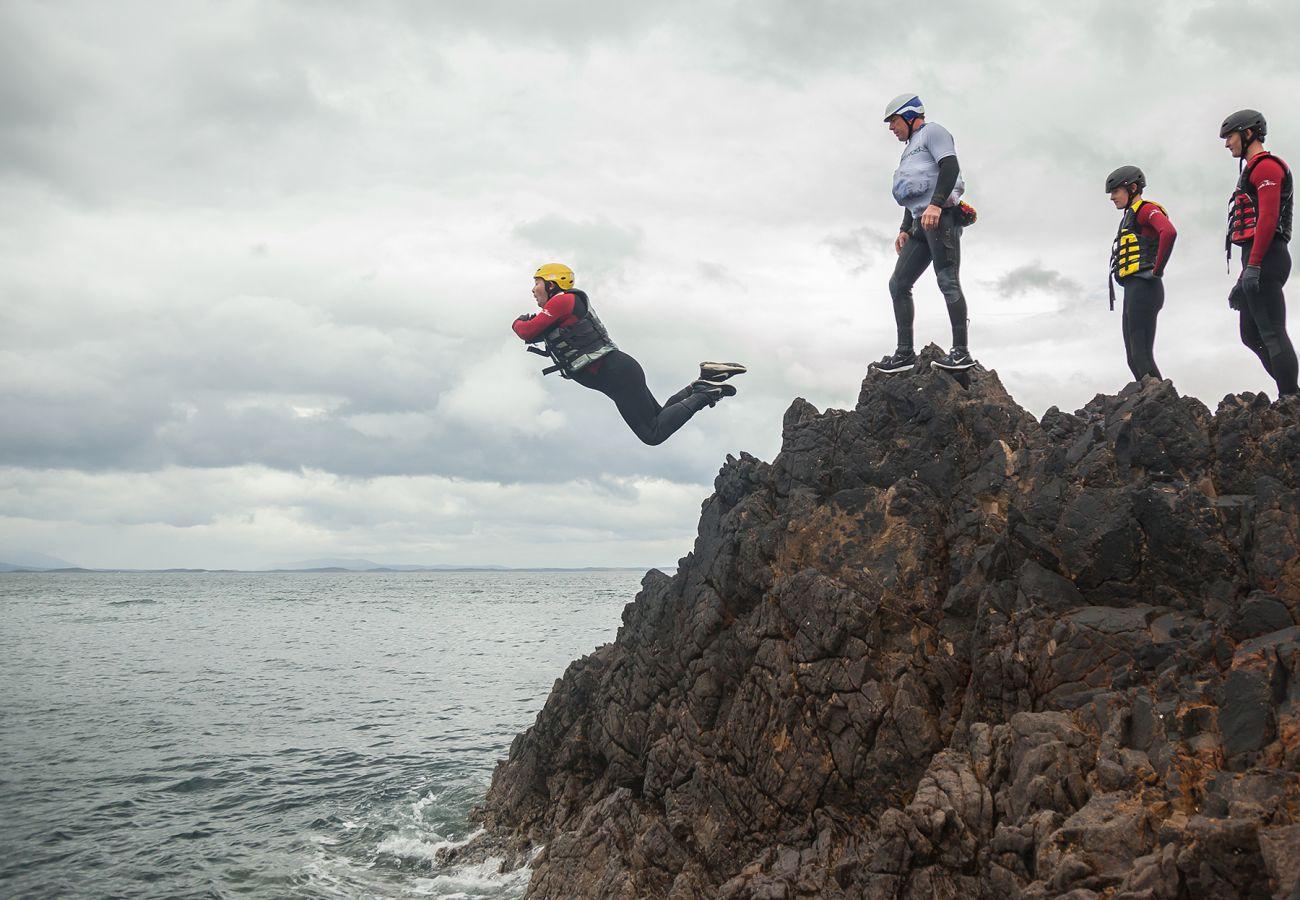 Coasteering at Old Head, Louisburgh, County Mayo Courtesy of Kelvin Gillmor