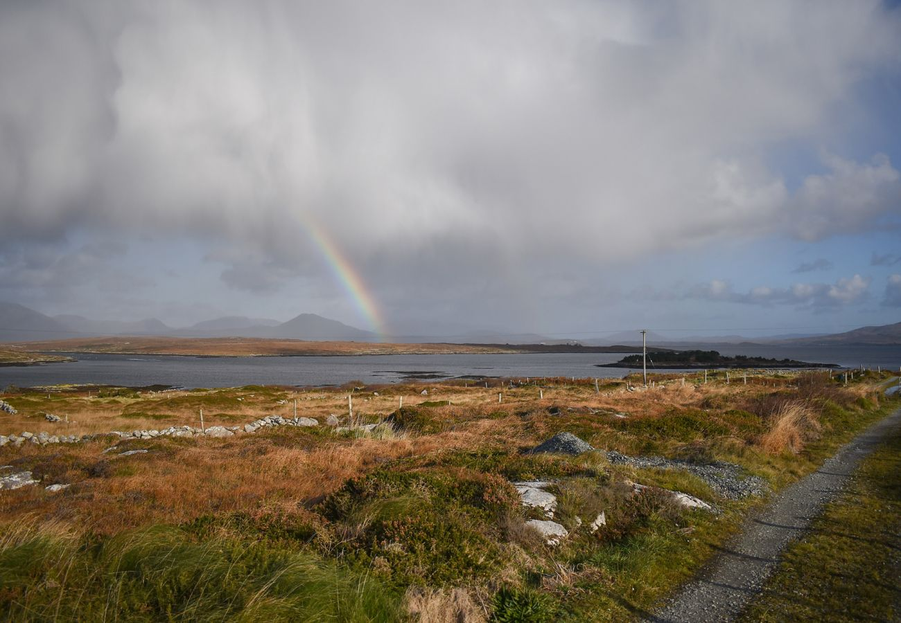 Rainbow views at Inishnee Island near Roundstone, County Galway