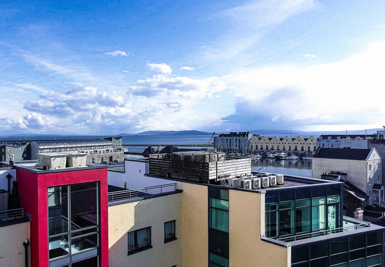 Top of Barr Taoide and The Galway Docks, County Galway