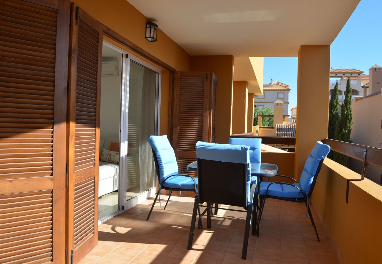 Balcony with sitting area in Albatros 1 apartment - Resort Choice