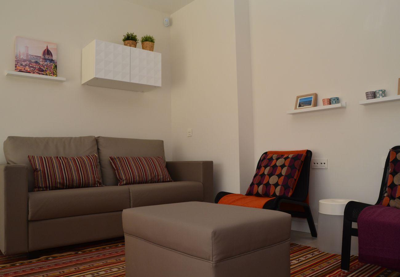 Beautiful Living Room of el Mirador de la Ribera Apartment