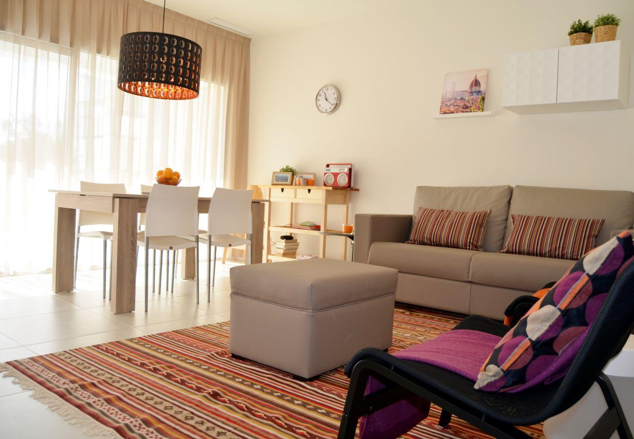Beautiful Living Room of Santiago de la Ribera Apartment