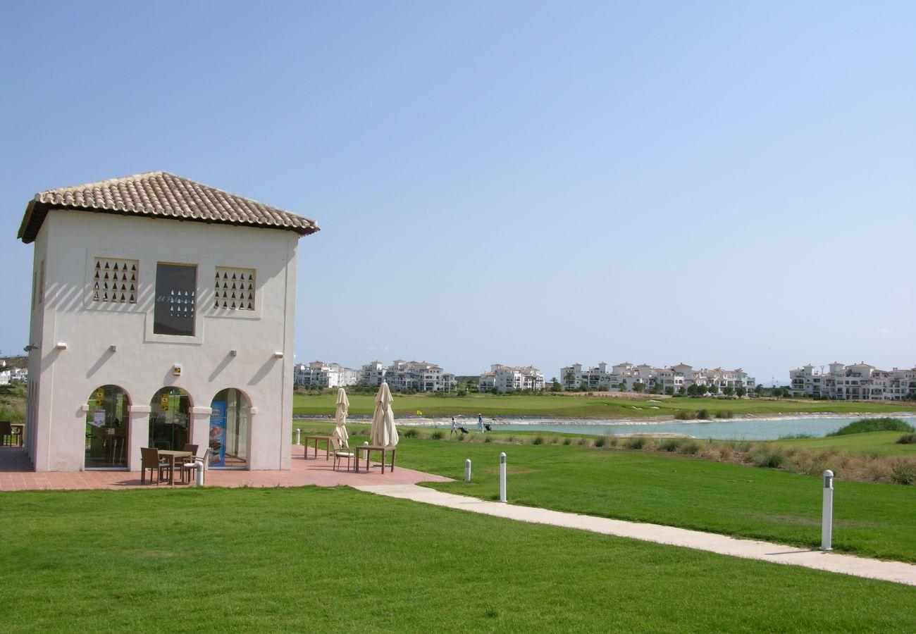 Beautiful gardens of Hacienda Riquelme Golf Resort