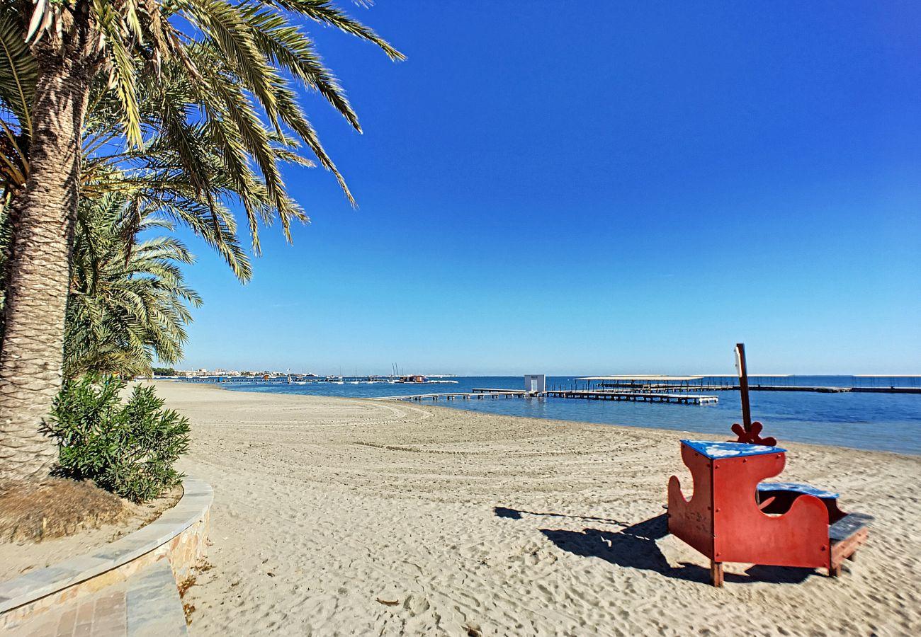 Beautiful Mar Menor beach in Santiago de la Ribera